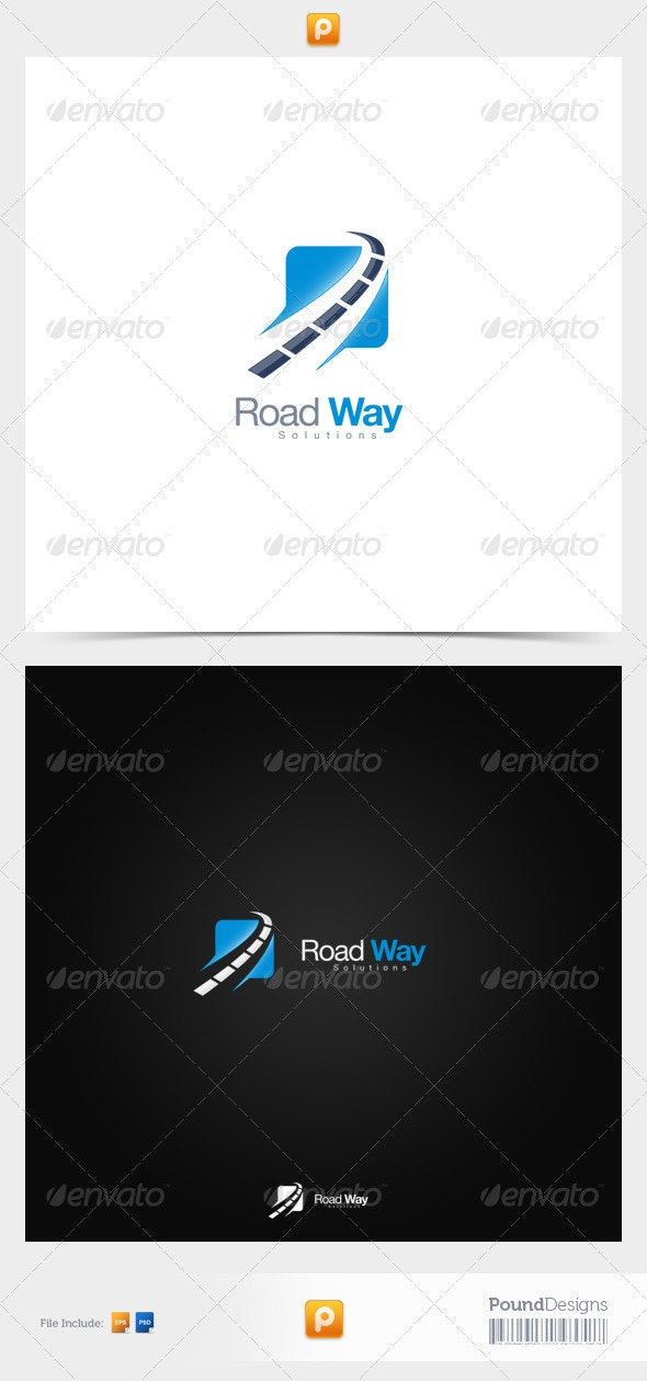 Road Way - Symbols Logo Templates