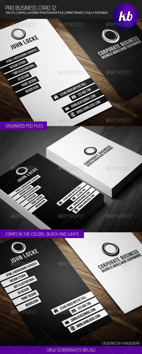 Pro Business Card 12 - Creative Business Cards