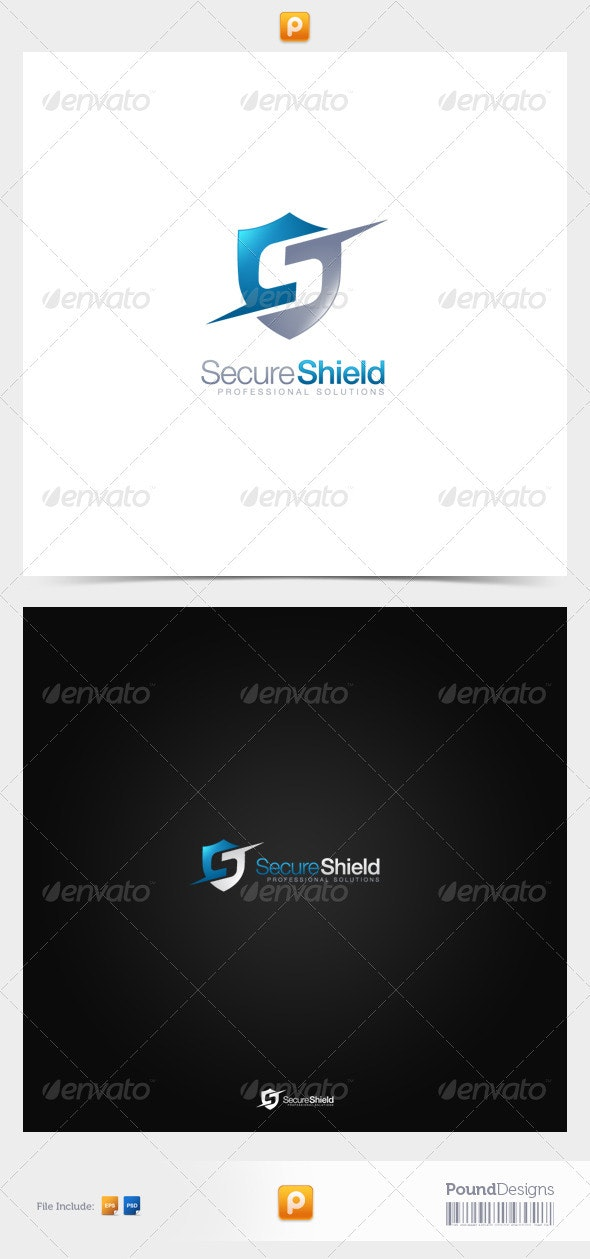 Secure Shield - Letters Logo Templates