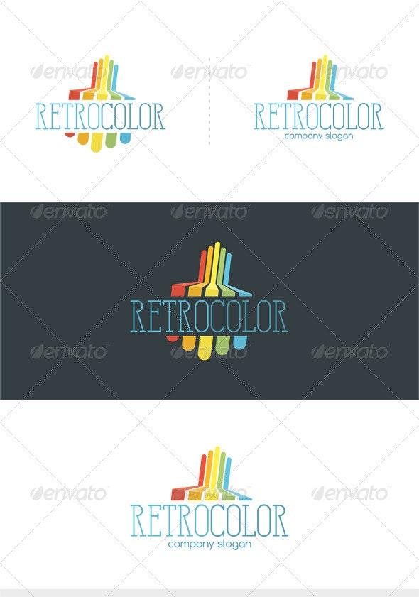 Retro Color Logo - Vector Abstract