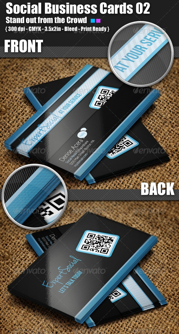 Social Business Cards 02 - Creative Business Cards