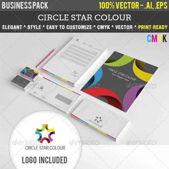 Circle Star Colour Indentity Pack