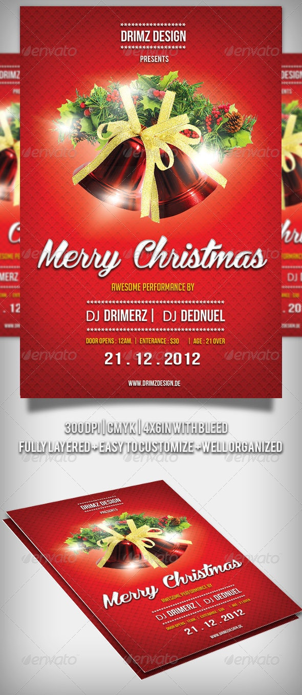 Red Christmas Flyer - Holidays Events