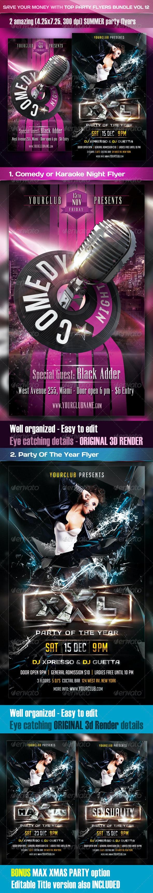 Top Party Flyer Bundle Vol12 - Clubs & Parties Events