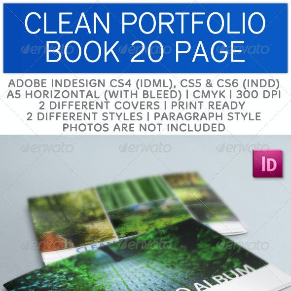 Creative Portfolio Book A5 Horizontal