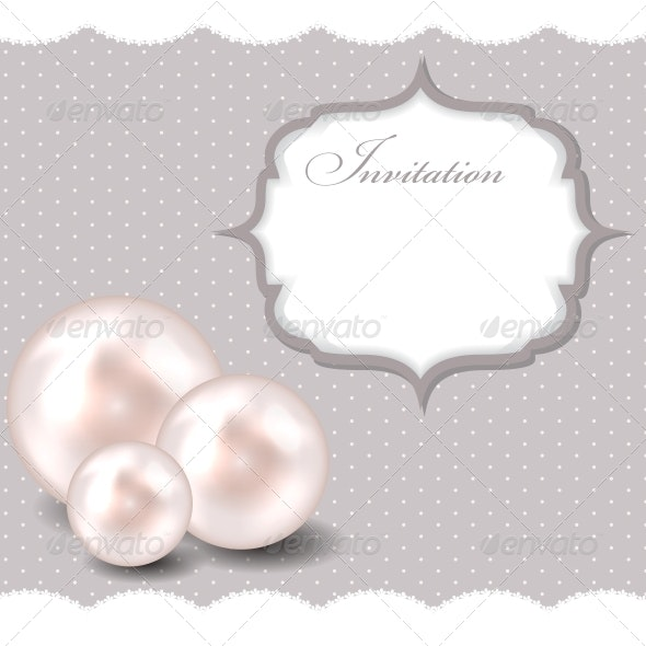 Beauty Pearl Background Vector Illustration - Decorative Symbols Decorative