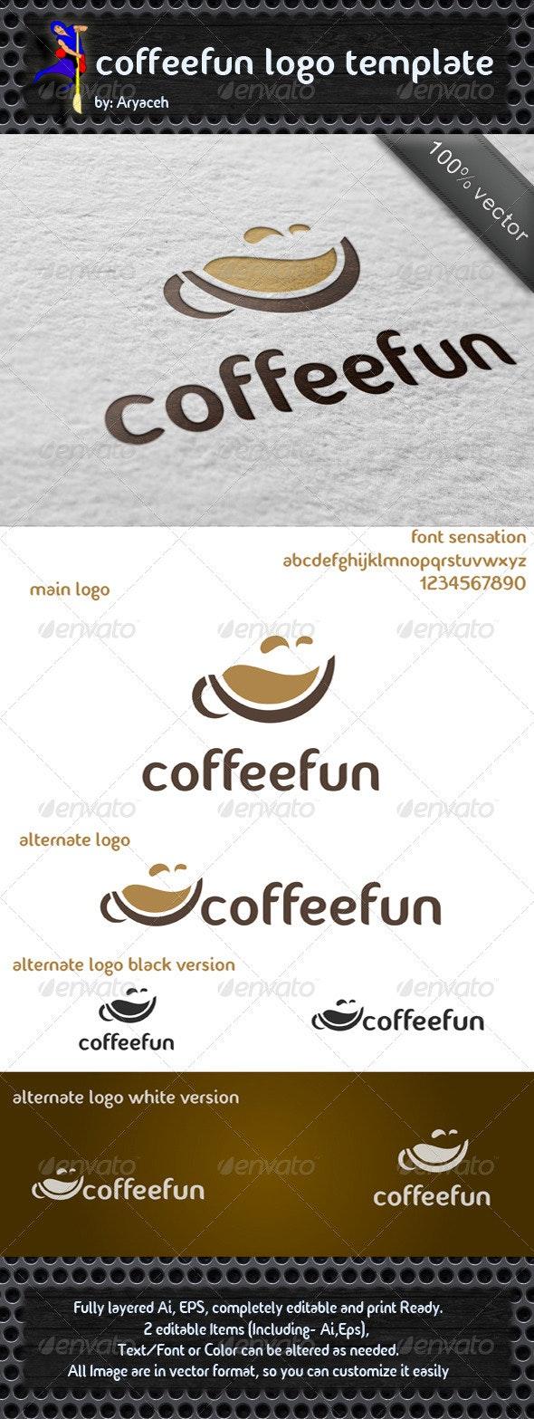 coffeefun logo template - Food Logo Templates