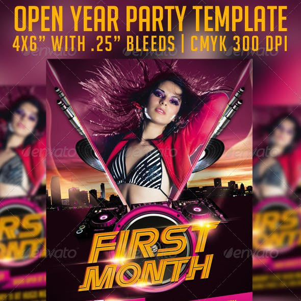 First Month Flyer Template