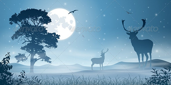 Male Stag Deer - Animals Characters