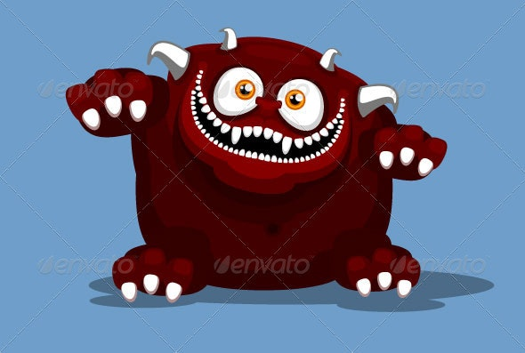 Big Red Monster - Monsters Characters