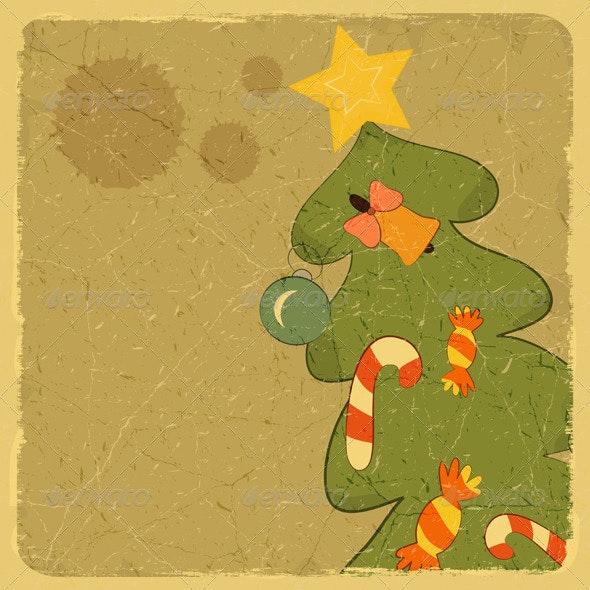 Christmas Tree Card - Christmas Seasons/Holidays