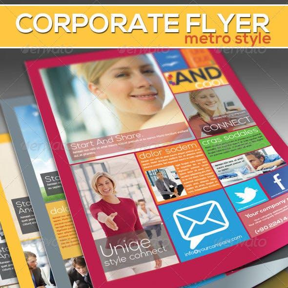 Corporate Flyer - Metro Style