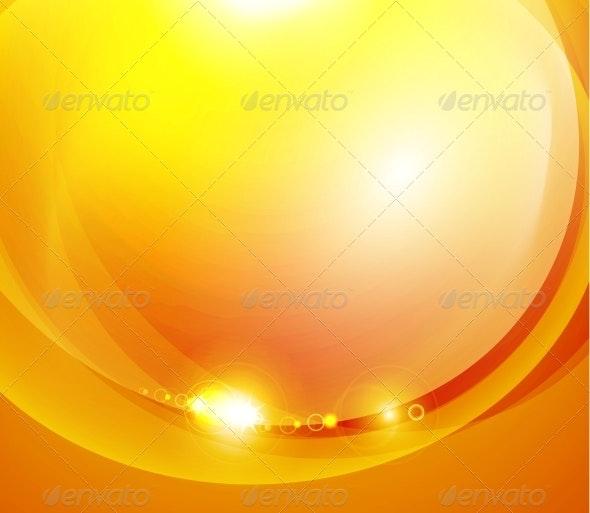 Sunshine Orange Background - Backgrounds Decorative