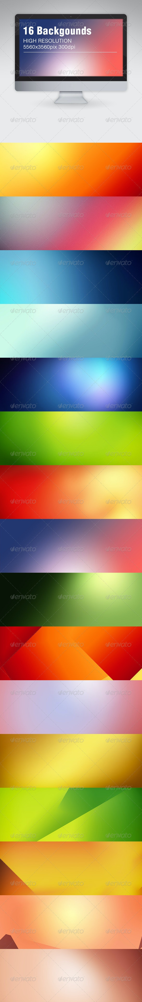 16 Blurred Backgrounds - Backgrounds Graphics