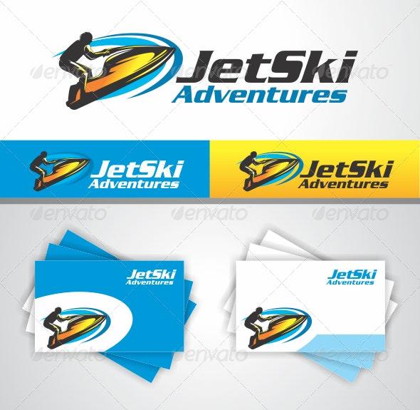 Jet Ski Adventures - Humans Logo Templates