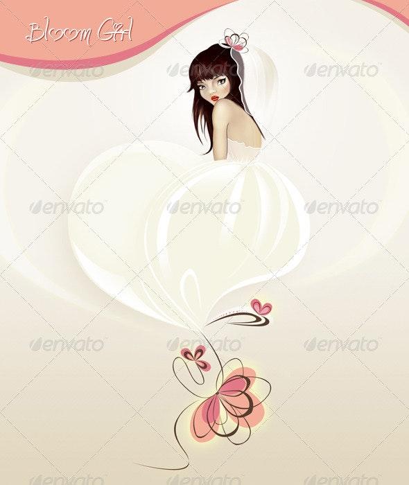 Bloom Girl - People Illustrations