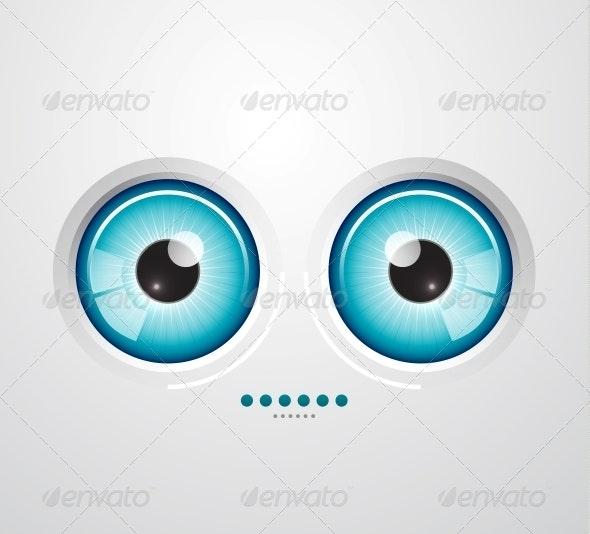 Eye Background - Backgrounds Decorative
