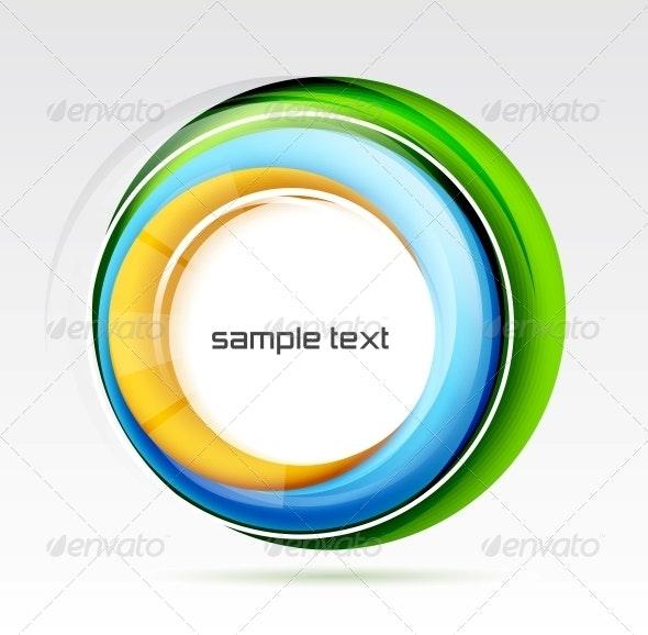Abstract Colorful Swirl Design - Decorative Symbols Decorative