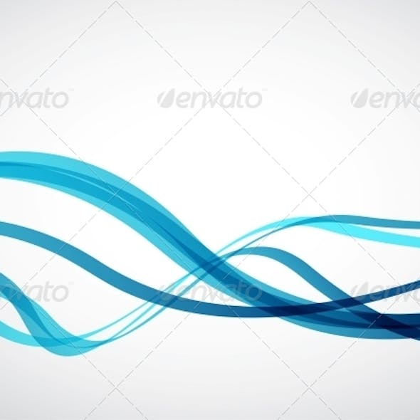 Blue Lines - Abstract Vector Background