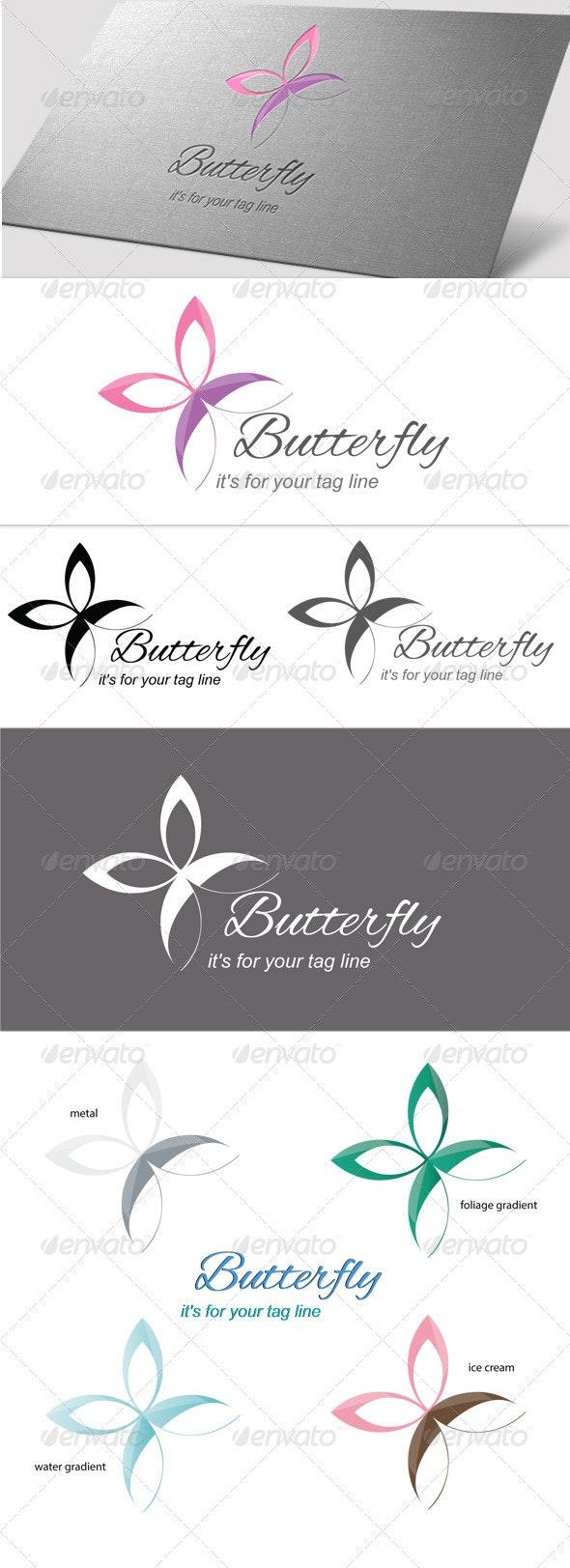 Butterfly - Flower - Nature Logo Templates