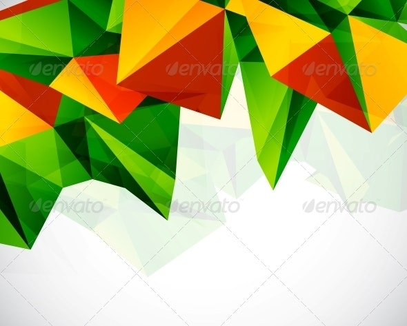 Abstract Colorful Geometric Vector Background - Backgrounds Decorative