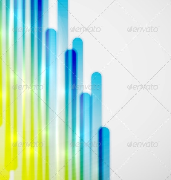 Color Lines Vector Background - Backgrounds Decorative