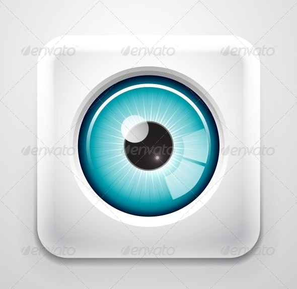 Eye Button - Web Elements Vectors