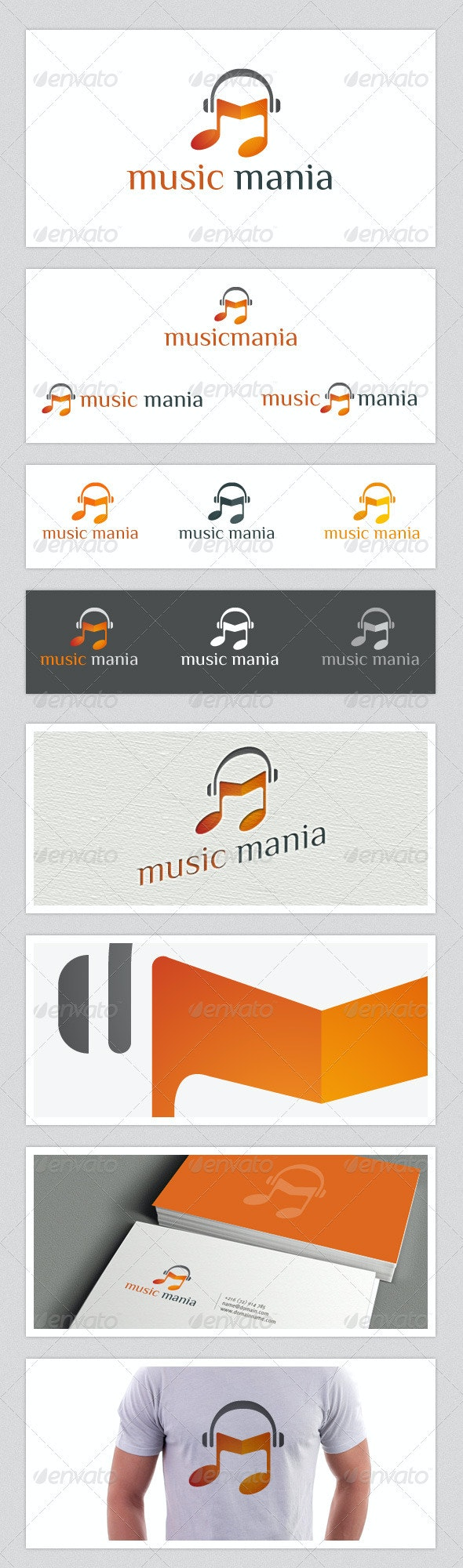Music Mania - Objects Logo Templates