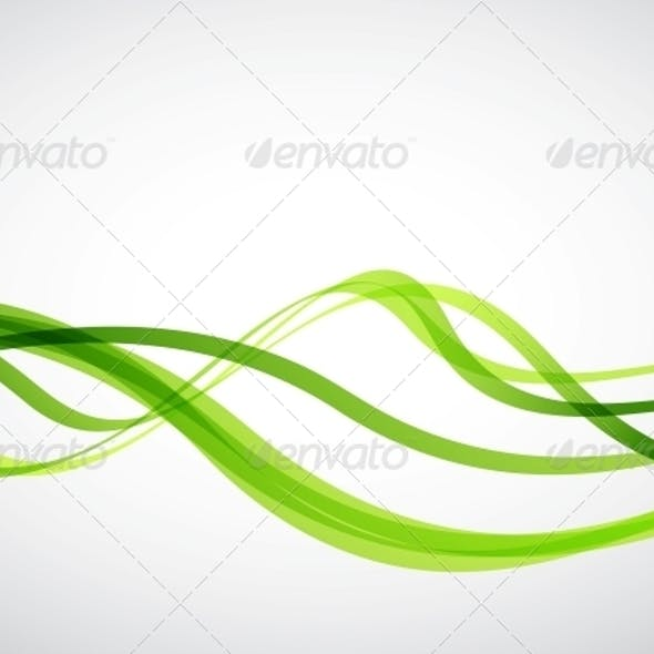 Green Lines - Abstract Vector Background