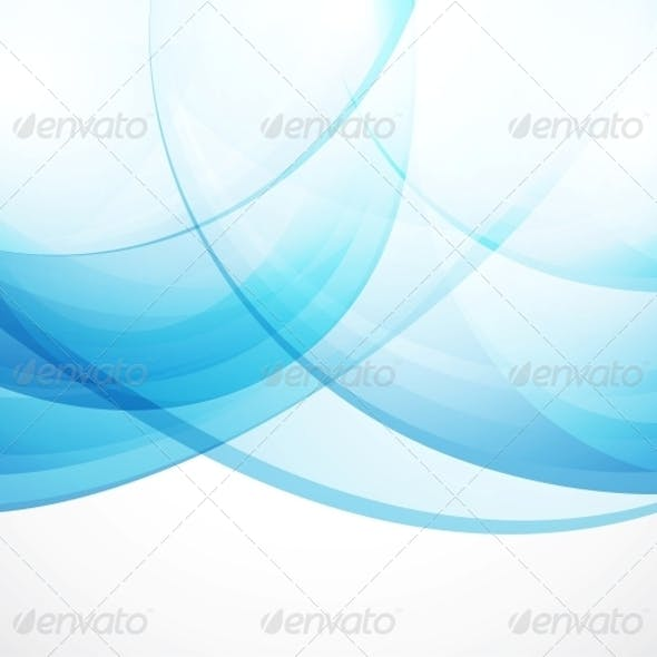 Vector Abstract Background - Blue Waves