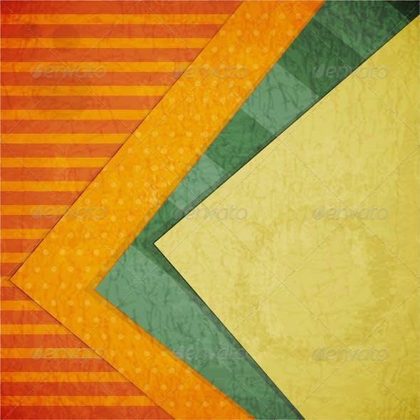 Color Paper Retro Background