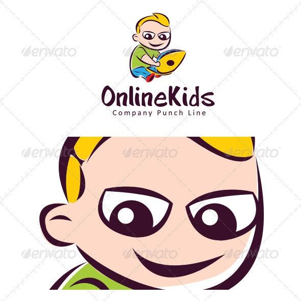 online kid - Humans Logo Templates