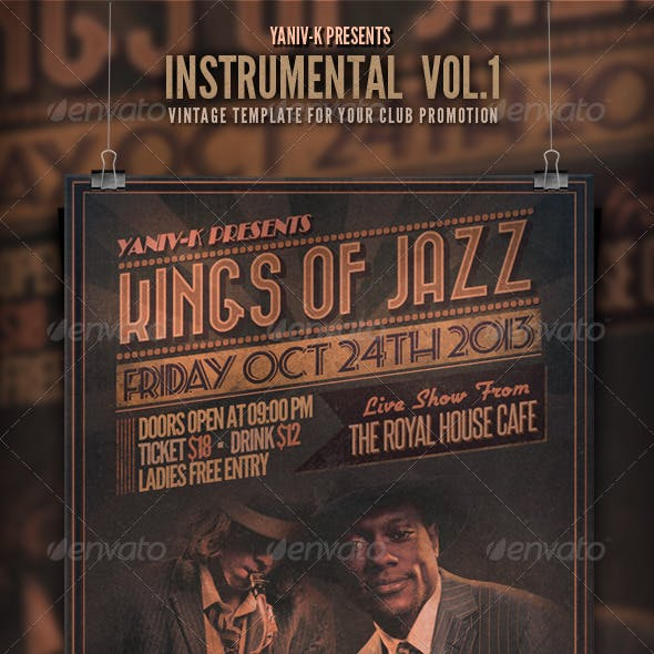Instrumental Flyer Template Vol.1 (Retro)