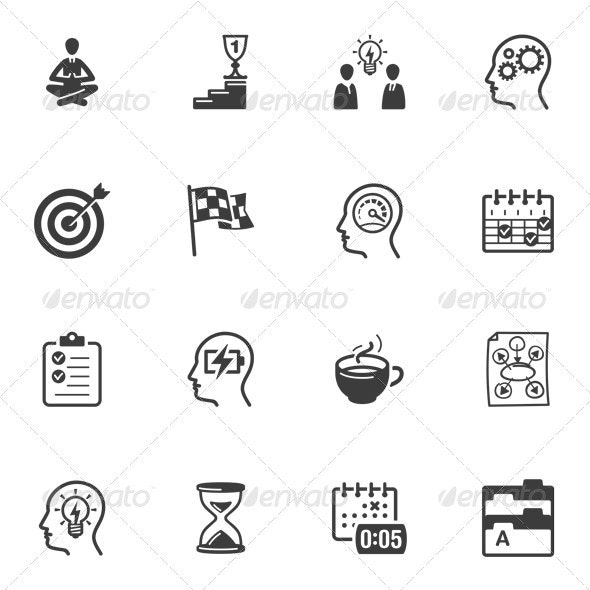 Productive at Work Icons - Web Icons