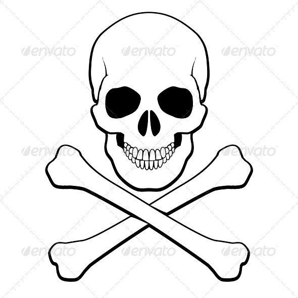 Skull and Crossbones - Halloween Seasons/Holidays