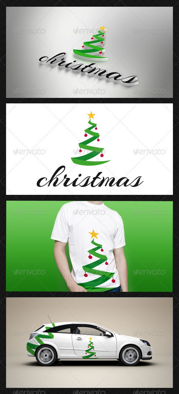 Christmas Tree Logo Template - Nature Logo Templates