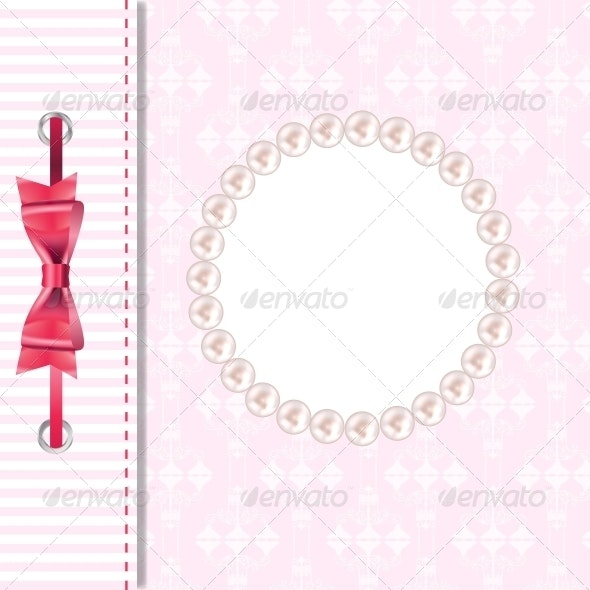 Vector Greeting Card or Cover with Bow. - Christmas Seasons/Holidays