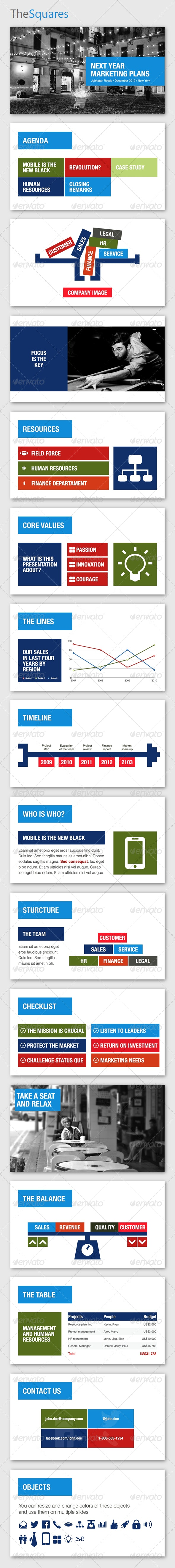 TheSquares Keynote Template - Business Keynote Templates