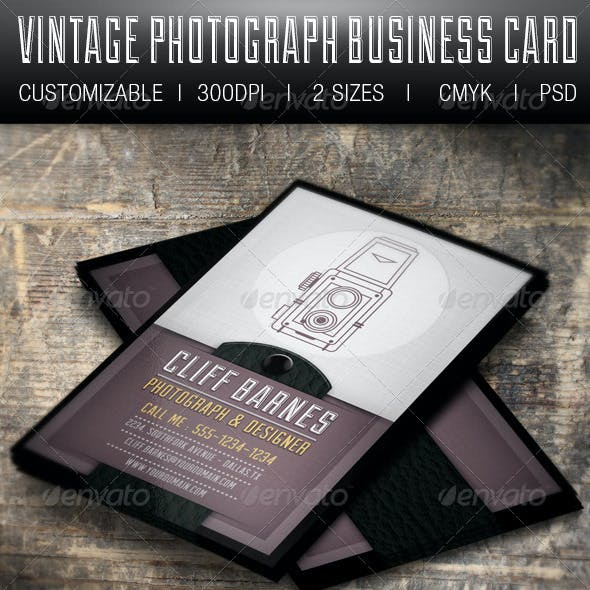 Vintage Photograph Business Card
