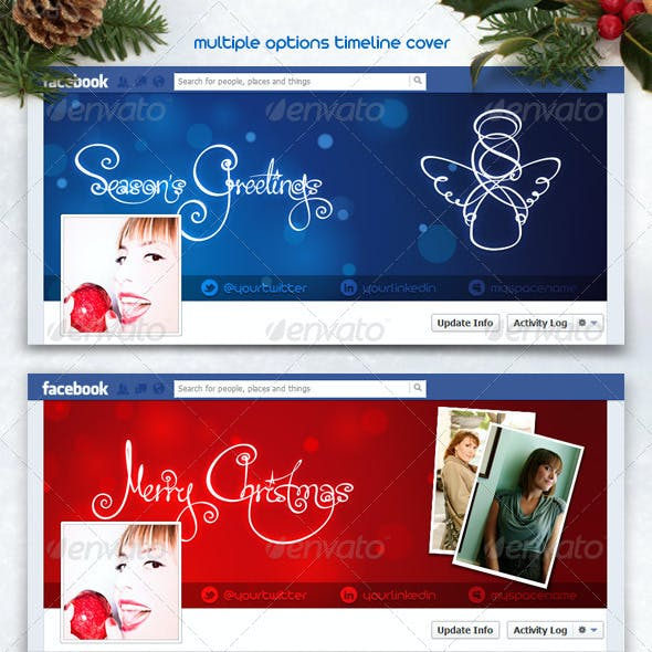 FB Christmas and New Year Multiple Timeline Cover