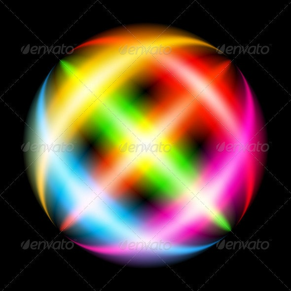 Abstract Rainbow Ray - Backgrounds Decorative