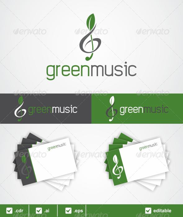 Green Music Logo - Symbols Logo Templates