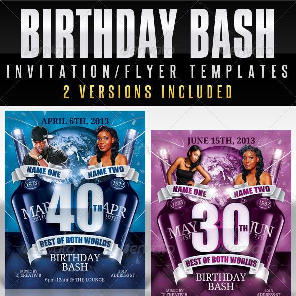 Birthday Invitation Template - Both Worlds