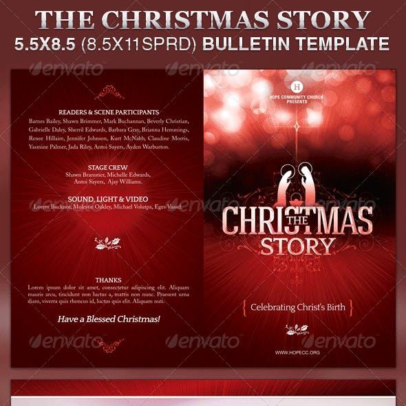 Christmas Story Church Bulletin Template