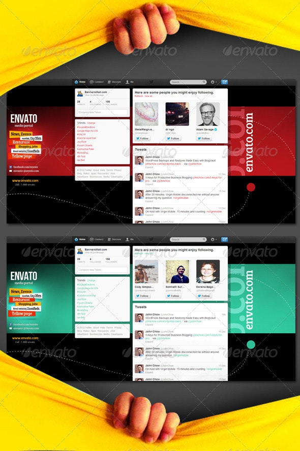 Twitter Background for News Website - Twitter Social Media