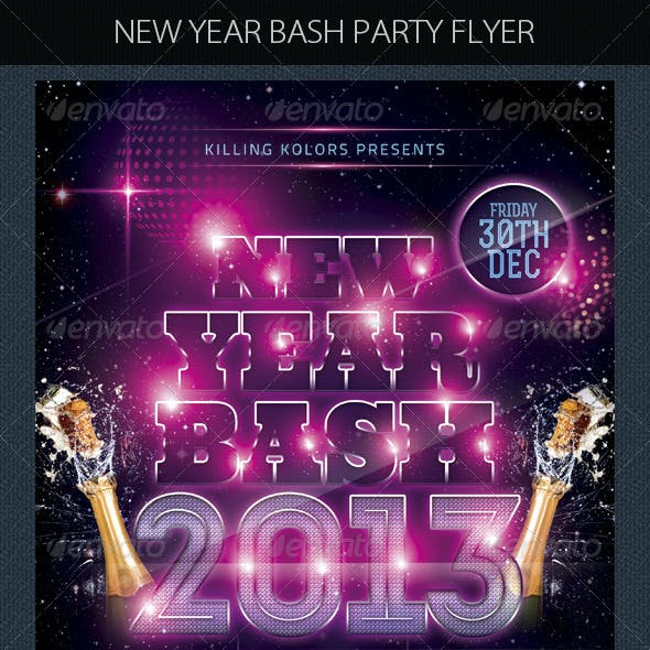 New Year Bash Party Flyer