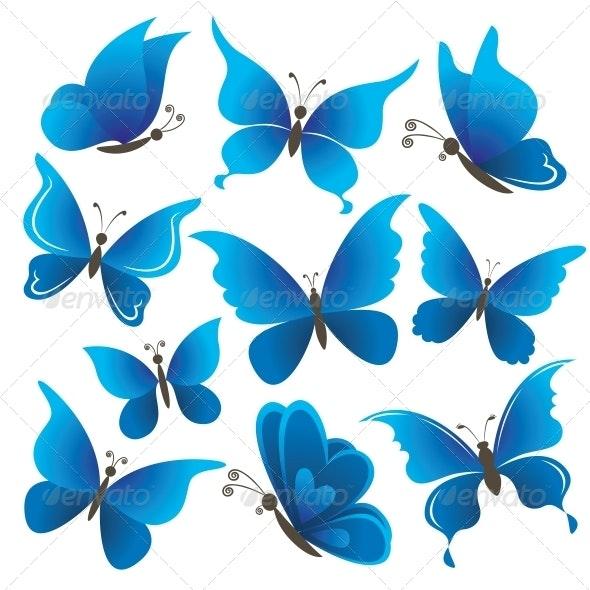 Set butterflies - Animals Characters