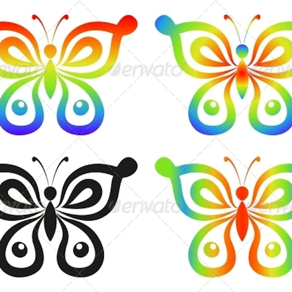 Abstract Butterflies Set