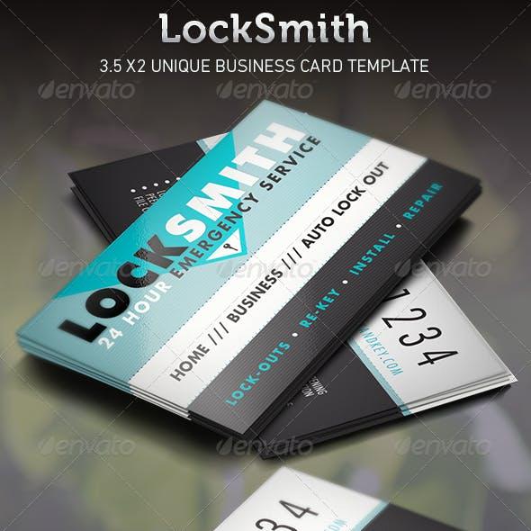 Locksmith  Business Card Template