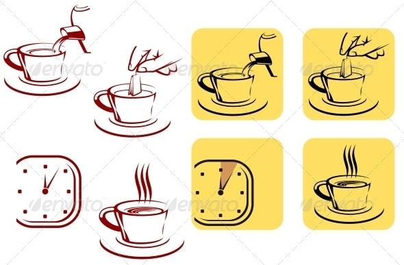 Tea Preparation - Food Objects